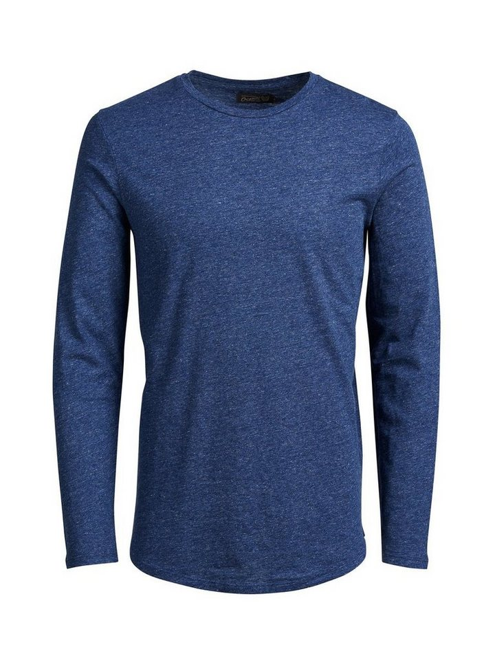 Jack & Jones Lang geschnittenes T-Shirt mit langen Ärmeln in Navy Blazer 2