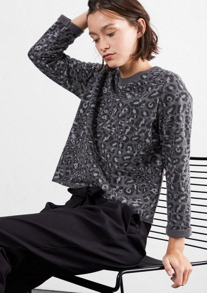 Q/S designed by Kurzer Leo-Sweater in dark grey