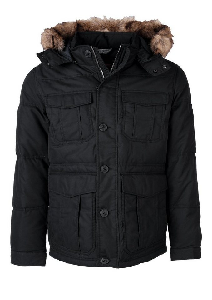 s.Oliver RED LABEL Winterjacke mit Fake-Fur-Blende in black
