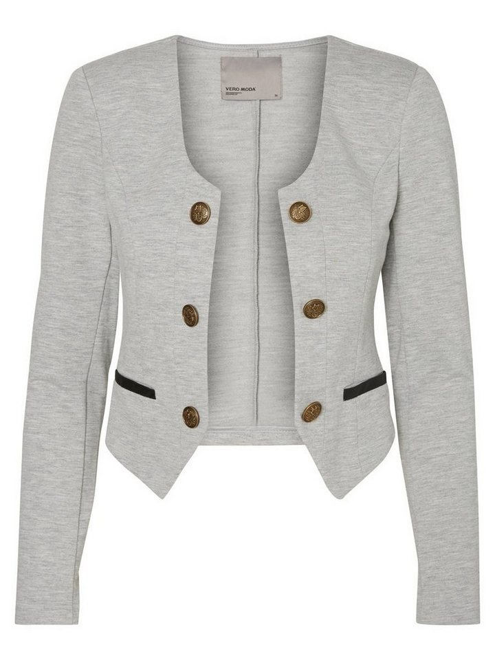 Vero Moda Kurzer Blazer in Light Grey Melange