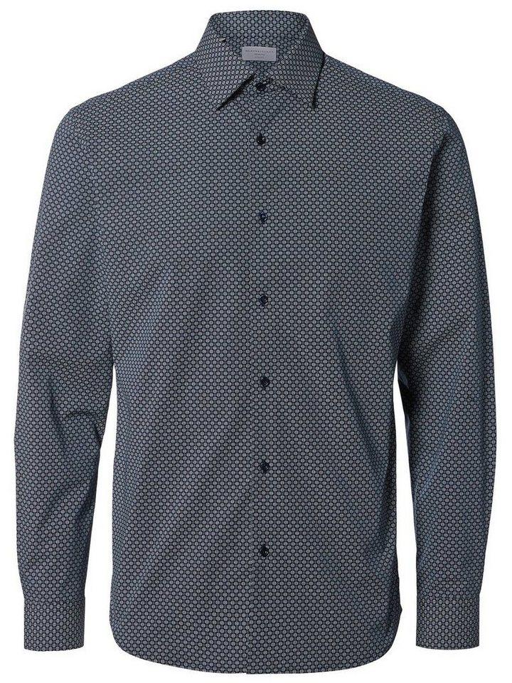 Selected Slim-Fit- Langarmhemd in Navy Blazer