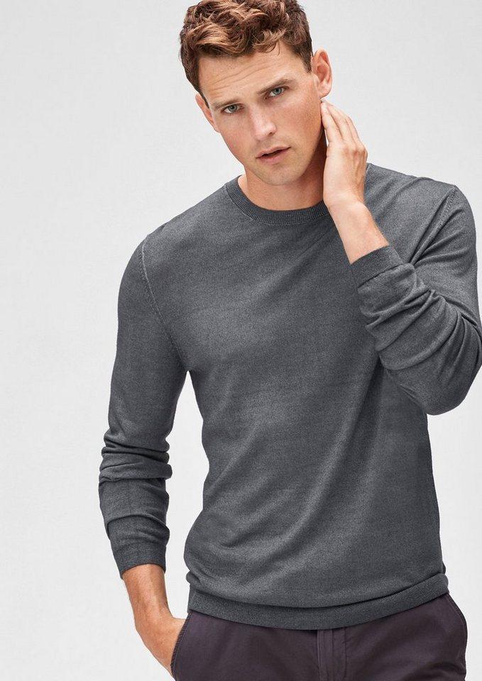 s.Oliver BLACK LABEL Leichter Pullover aus Merinowolle in beluga melange