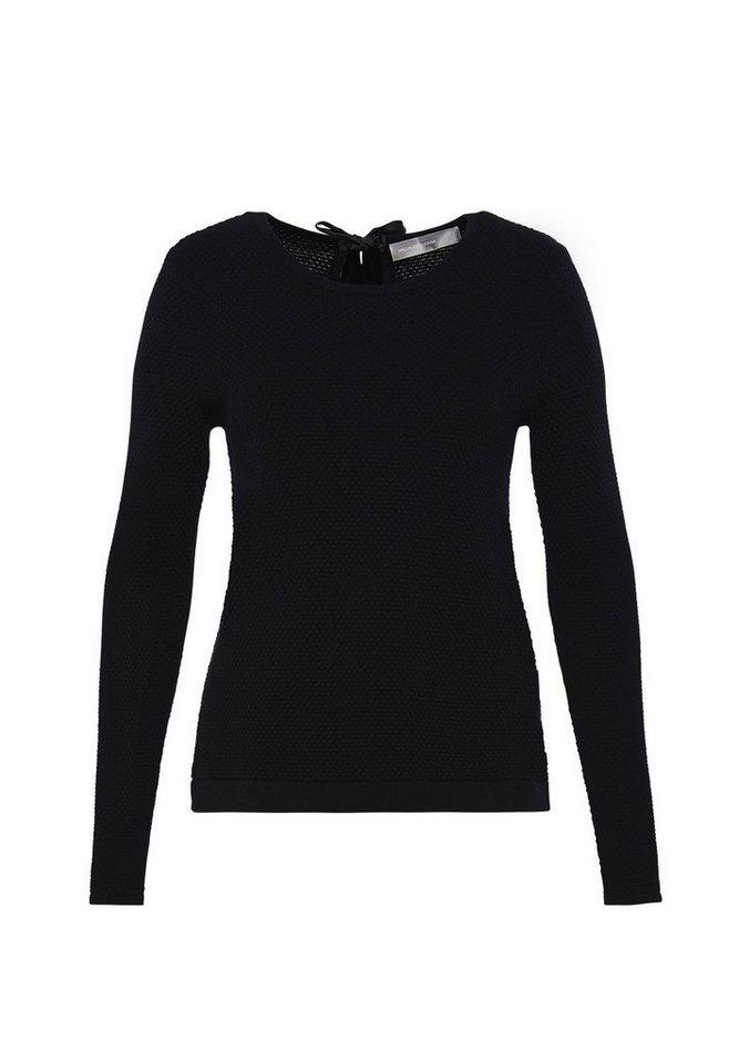 HALLHUBER Layer-Pullover mit Satinschleife in schwarz