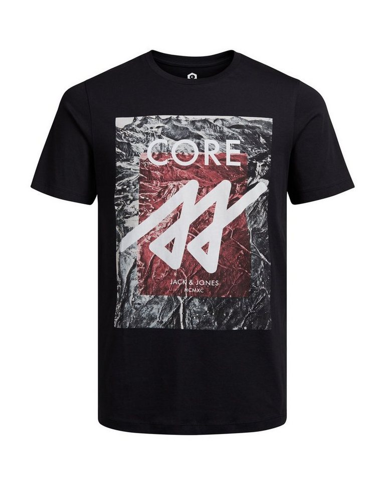 Jack & Jones Grafik- T-Shirt in Black