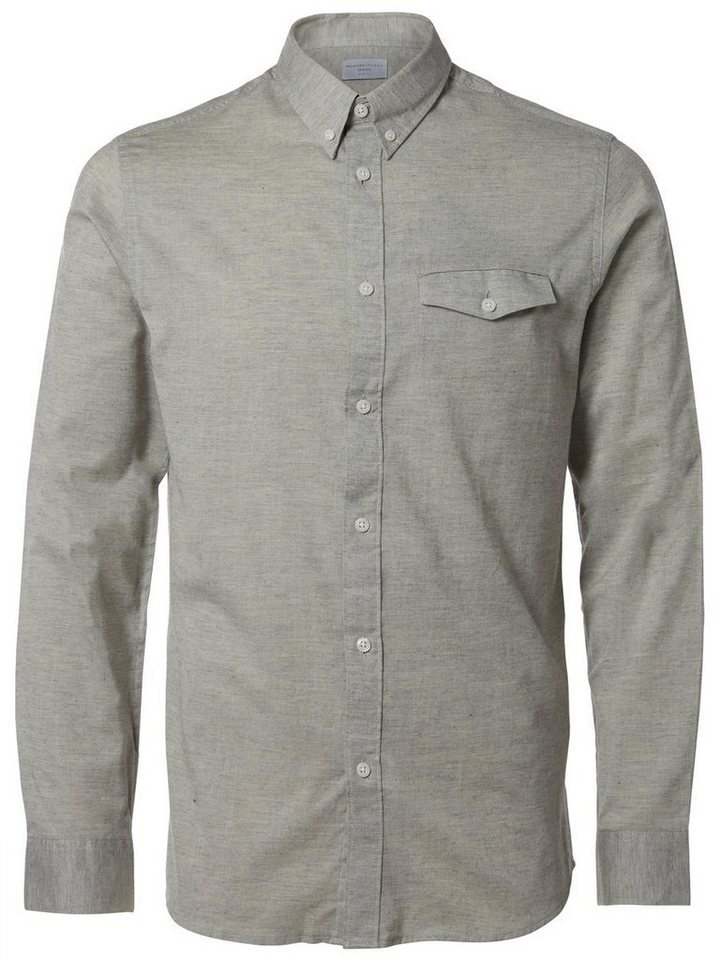 Selected Slim fit- Langarmhemd in Grey Melange