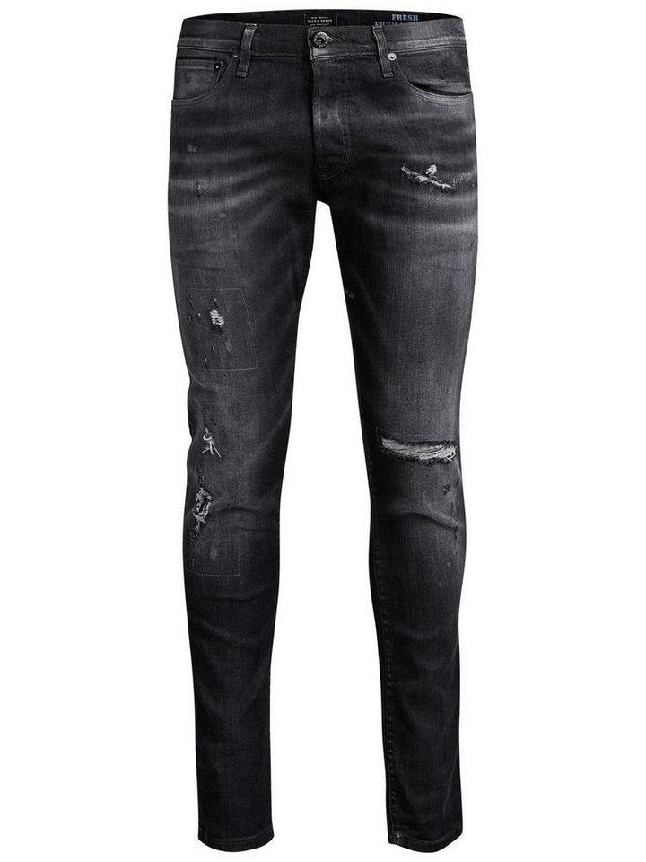 Jack & Jones Glenn Page BL 732 Slim Fit Jeans in Black Denim