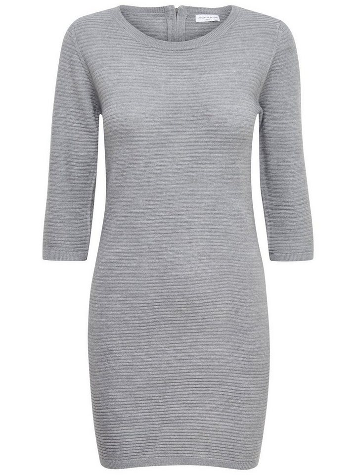 Only Reißverschluss- Kleid in Light Grey Melange
