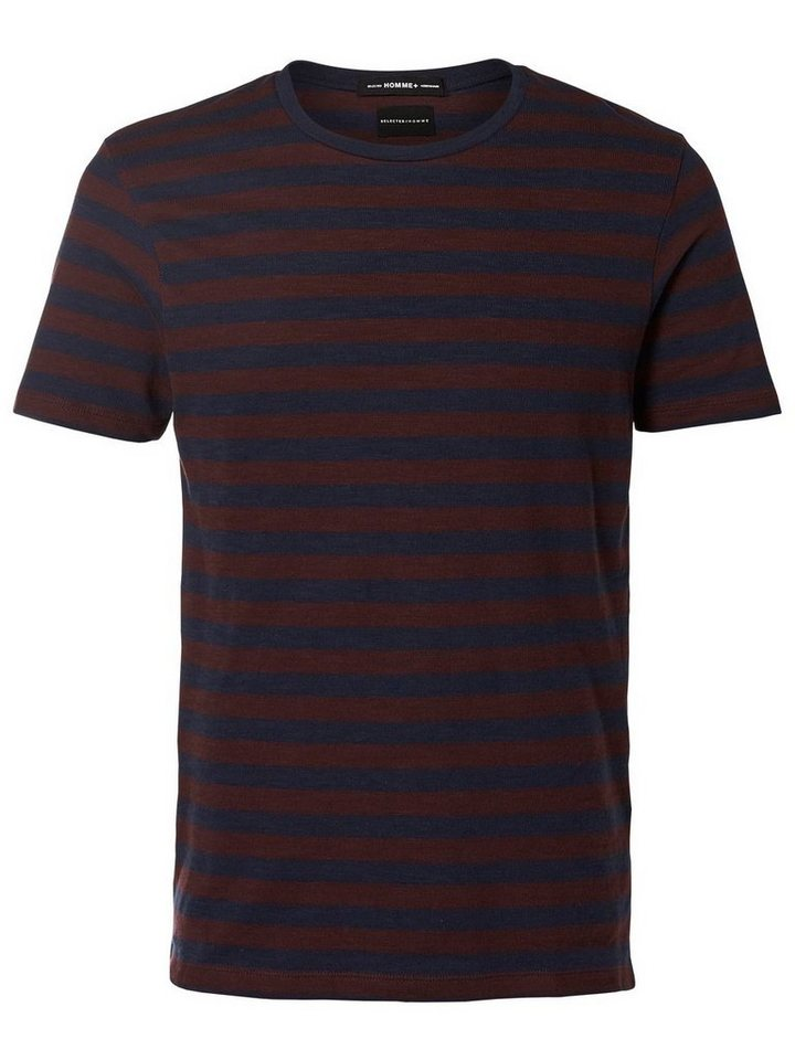 Selected Gestreiftes T-Shirt in Navy Blazer