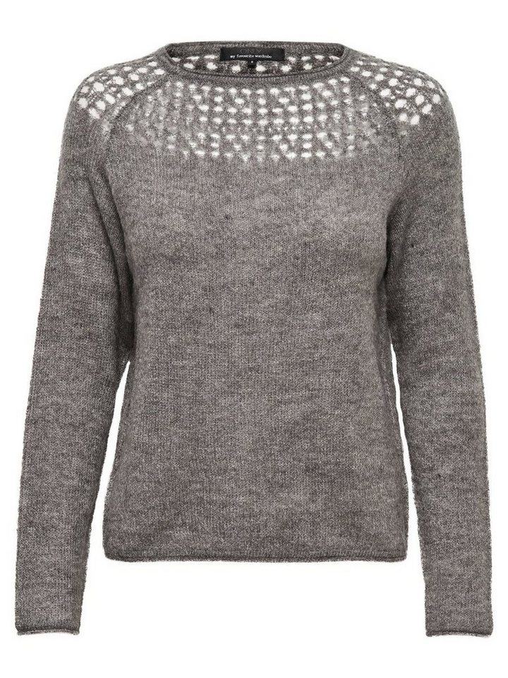 Only Häkel- Strickpullover in Magnet
