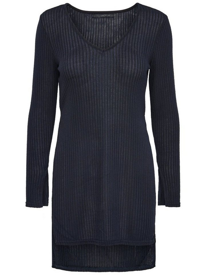 Only Langer Strickpullover in Dark Navy
