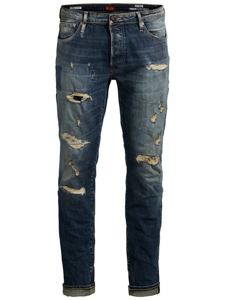 Jack & Jones Tim Page BL 739 Slim Fit Jeans in Blue Denim