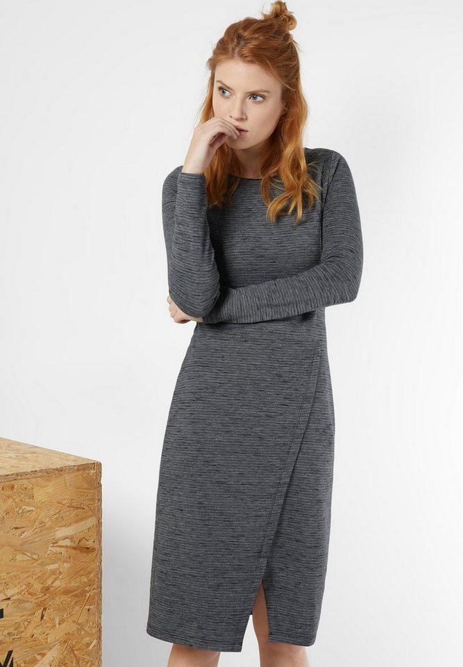 Street One Kleid mit Wickelrock Kelly in ghost grey melange