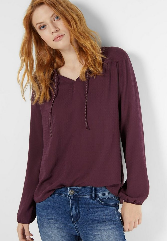 Street One Bluse mit Struktur Birgit in night plum