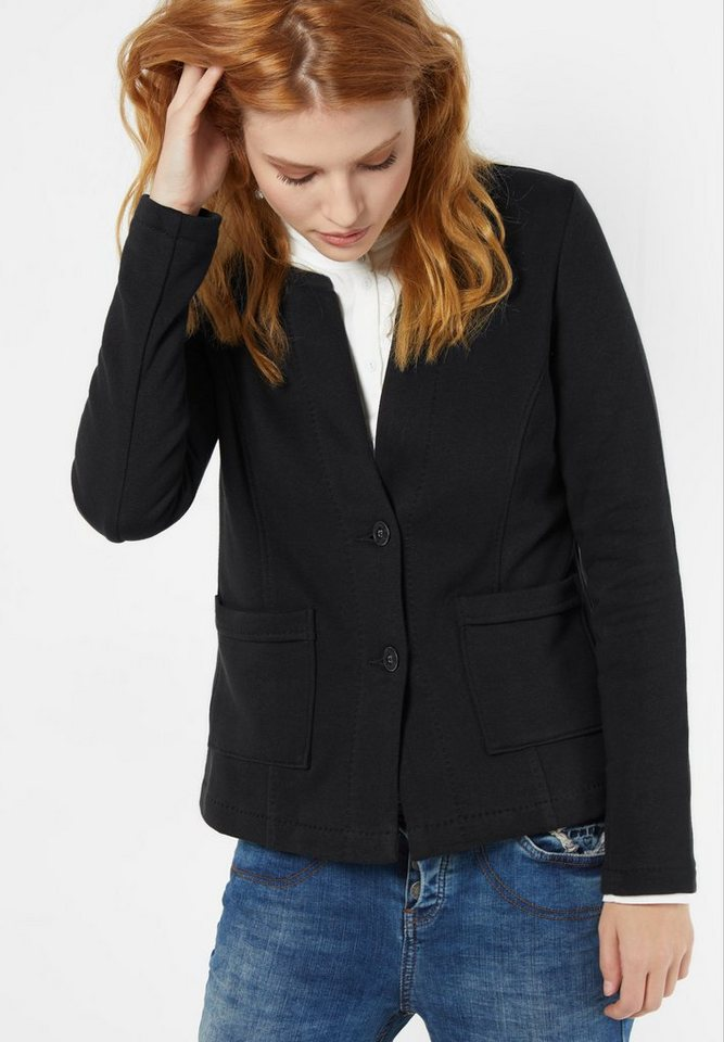 Street One Sweatblazer Geli in black