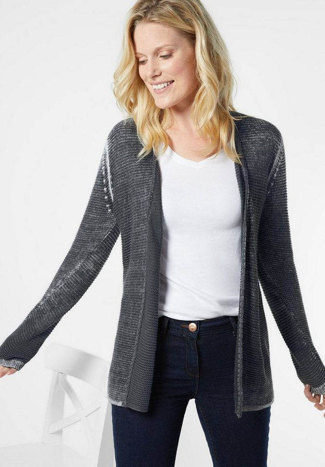 CECIL Offener Long Cardigan in graphit light grey