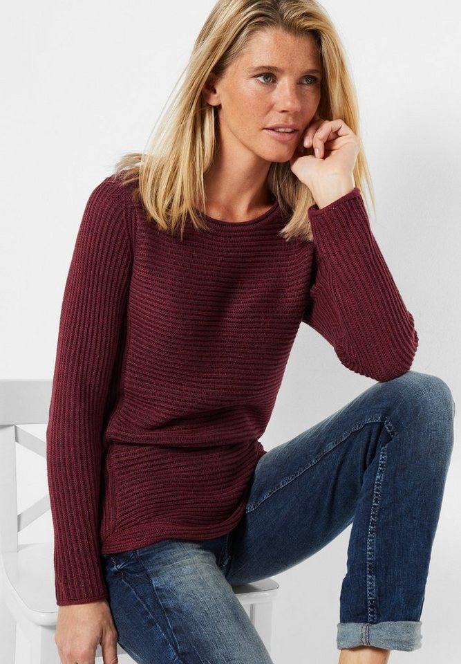 CECIL Strickpullover Ruby in maroon red