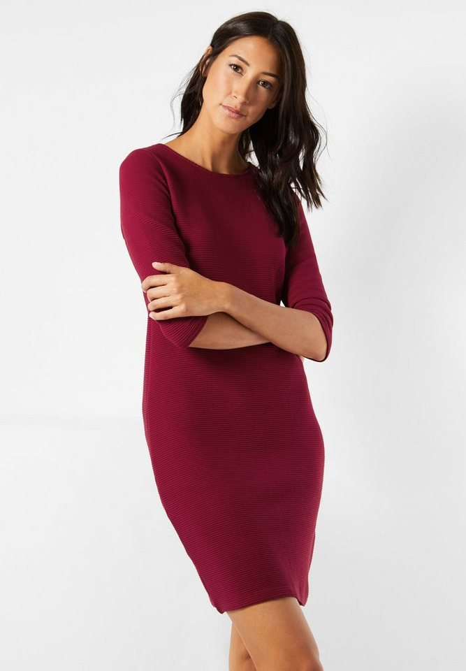 Street One Kleid mit Struktur Ilia in vintage red