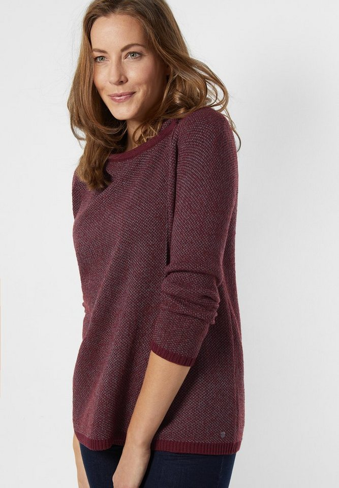 CECIL Sportive Strickjacke Sydney in maroon red