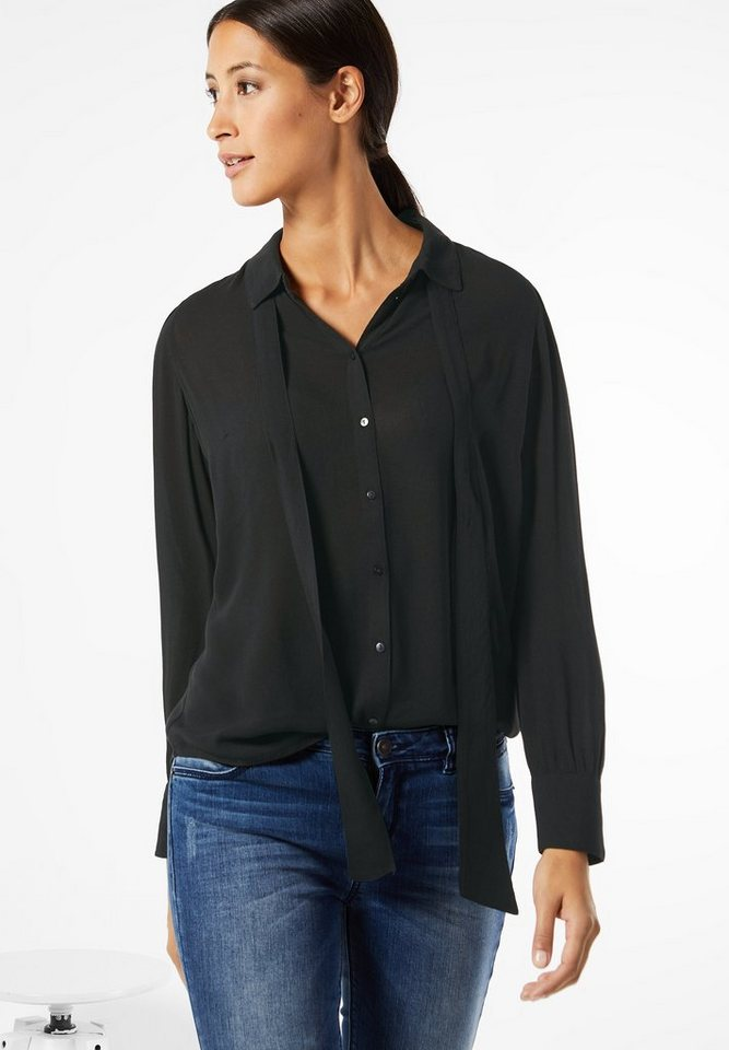 Street One Bluse im Hemdstyle Ida in Black