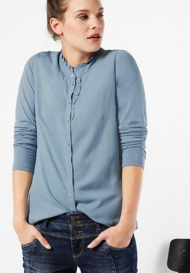 Street One Shirt mit Rüschen Imma in sterling blue