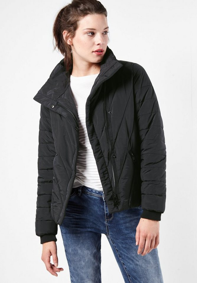Street One Wattierte Jacke Gloria in Black