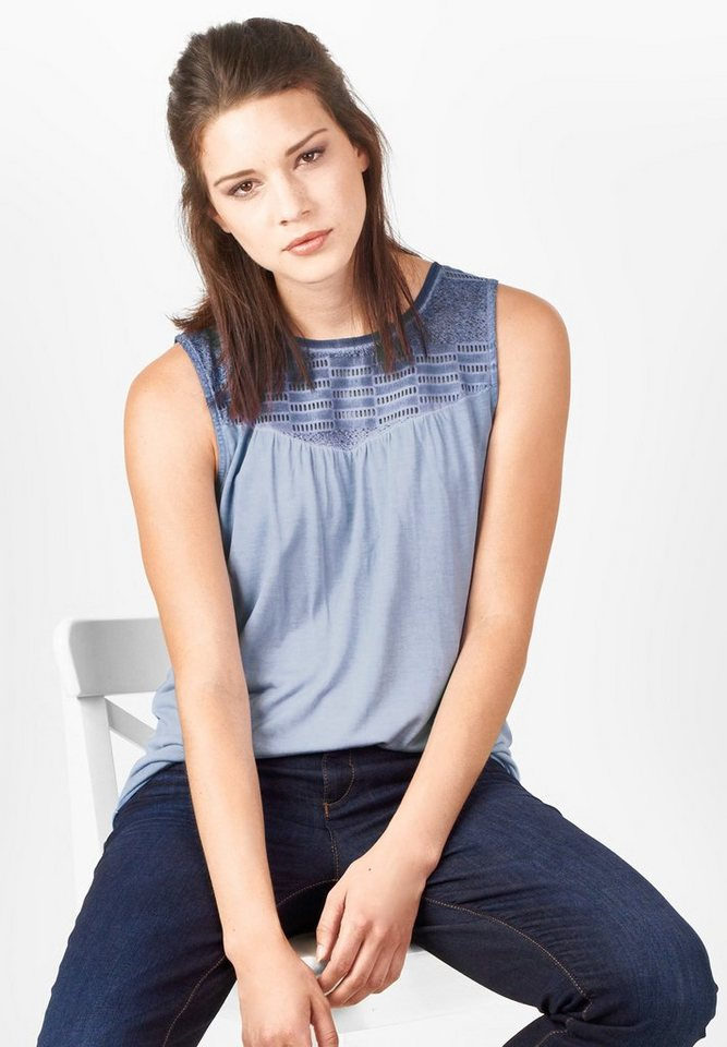 Street One Shirt mit Spitze Agatha in endless blue