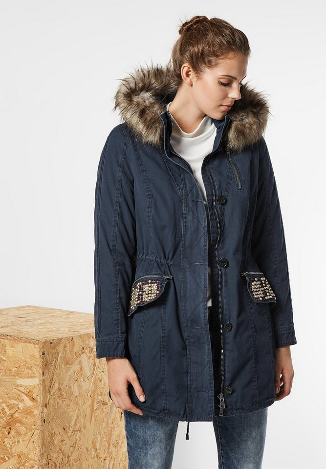 Street One Parka George in night blue