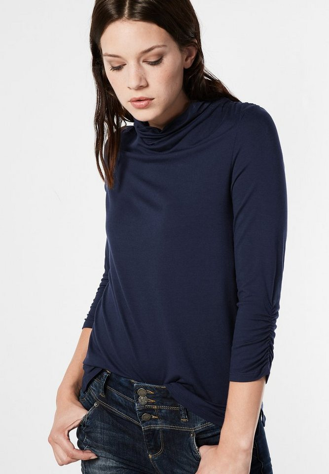 Street One Shirt mit Raffungen Iljana in night blue