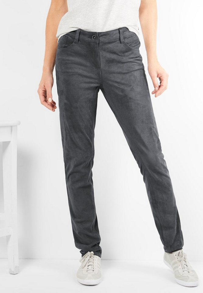 CECIL Fake Velours Hose Victoria in dark silver