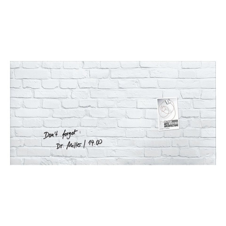 Sigel Glas-Magnettafel »artverum® White-Klinker«