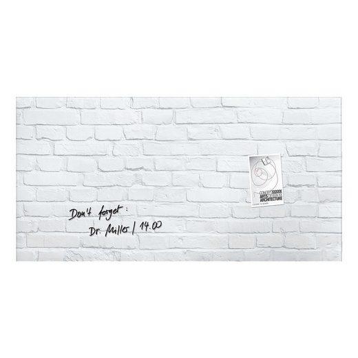 Sigel Glas-Magnettafel GL144 »Artverum White-Klinker«