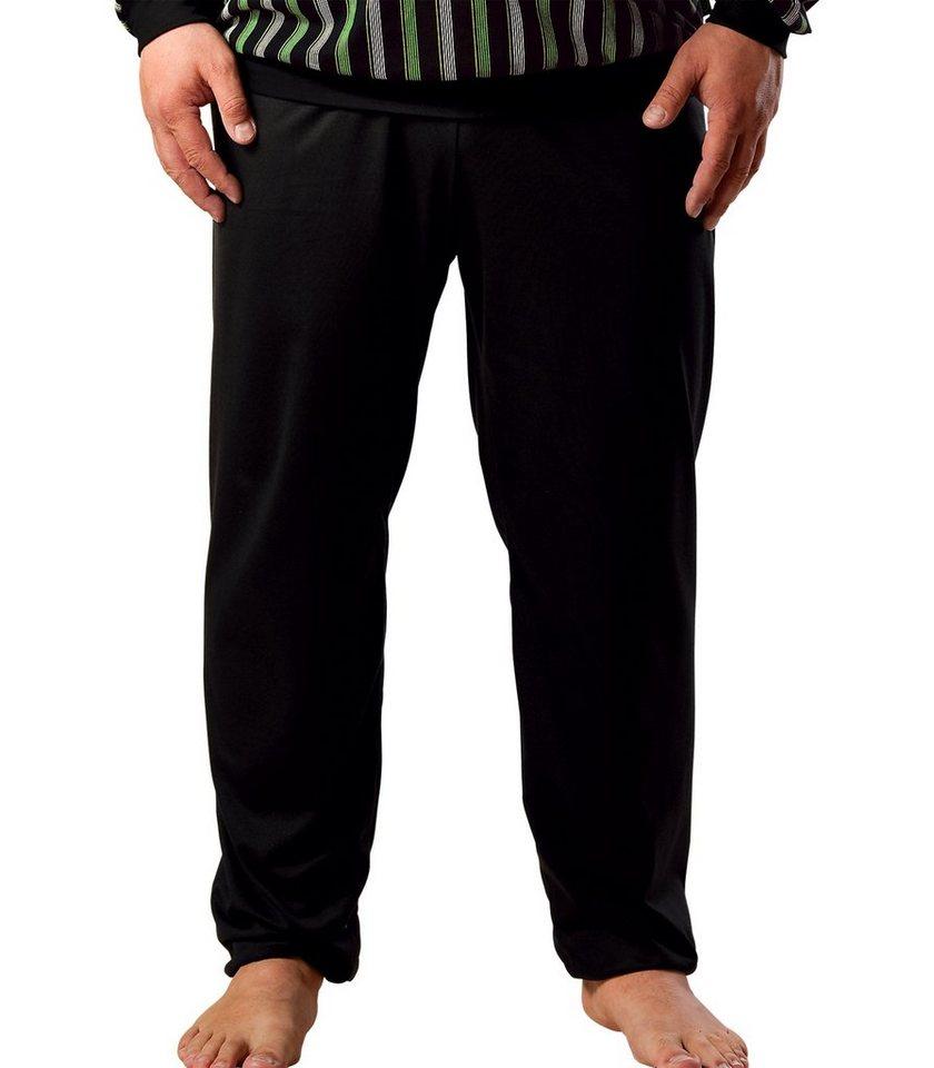 TRIGEMA Schlafanzug-Hose in schwarz