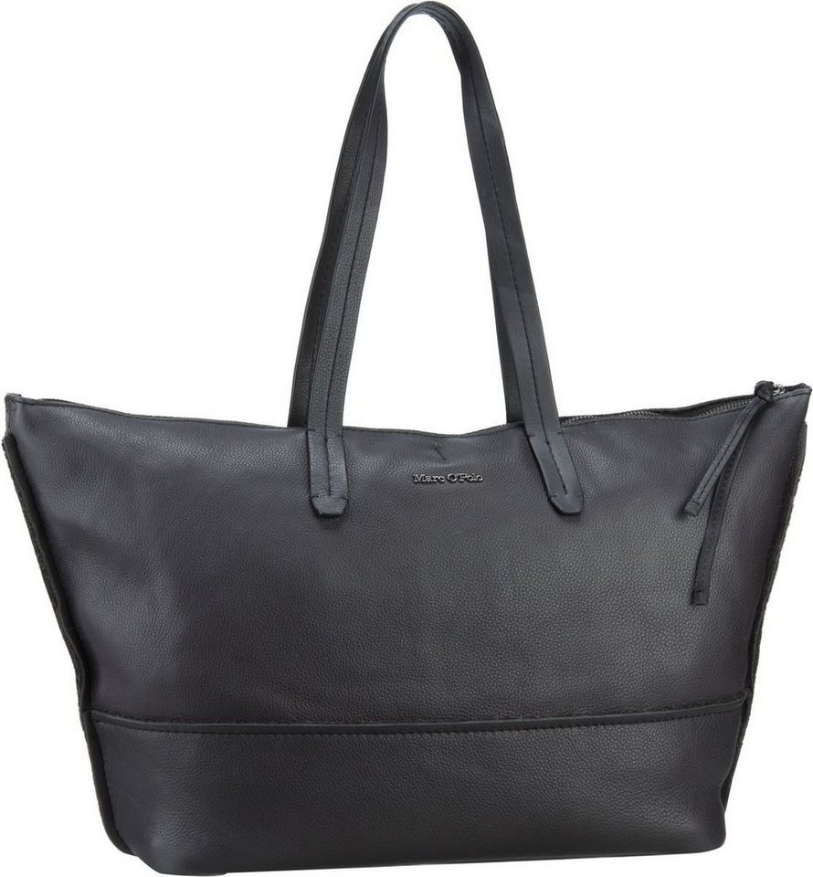 Marc O'Polo Shopper L Natural Cow Soft in Charcoal