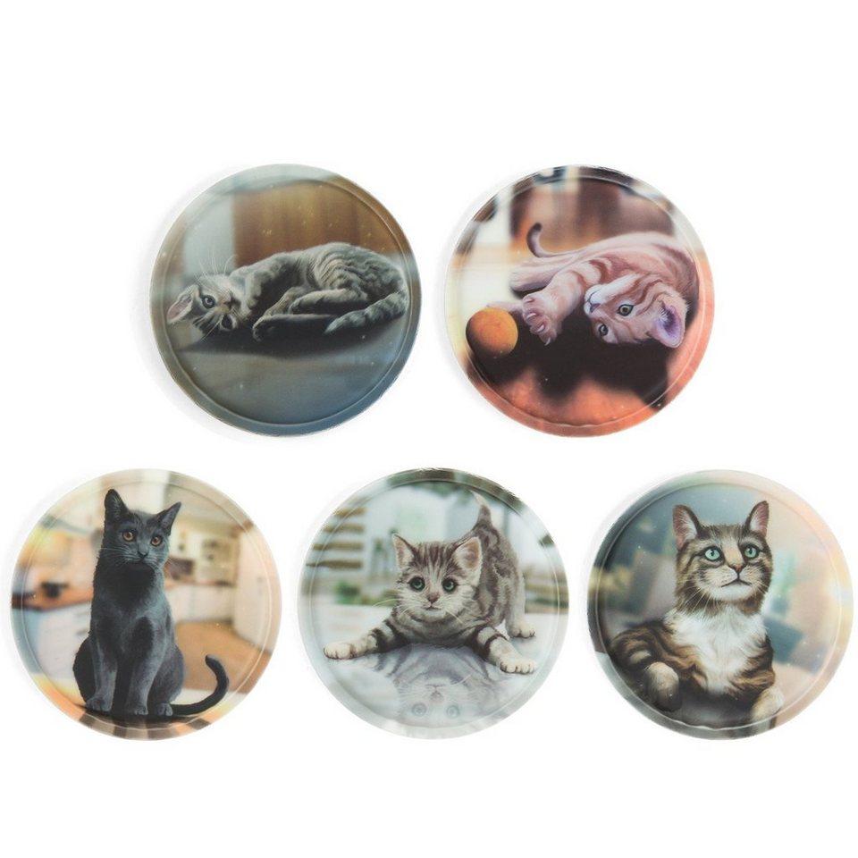ergobag Klettie-Set mit verschiedenen Motiven II 17,5 cm in Katzen