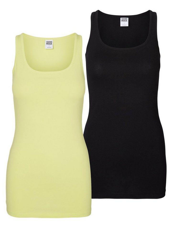Vero Moda 2erPack Tank Top in Sunny Lime
