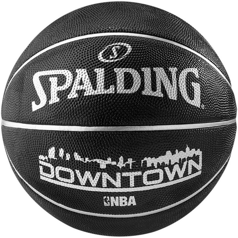 SPALDING NBA Downtown Black Basketball in schwarz / weiß