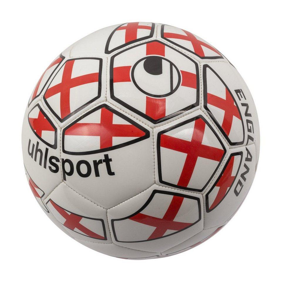 UHLSPORT England Mini Fußball in weiß / rot / schwarz