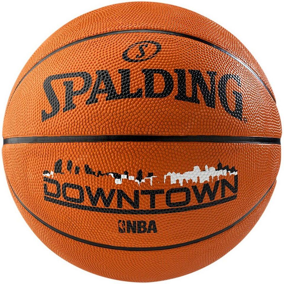 SPALDING NBA Downtown Brick Basketball in orange / schwarz