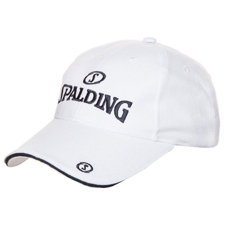 SPALDING Base Cap in weiß/marine
