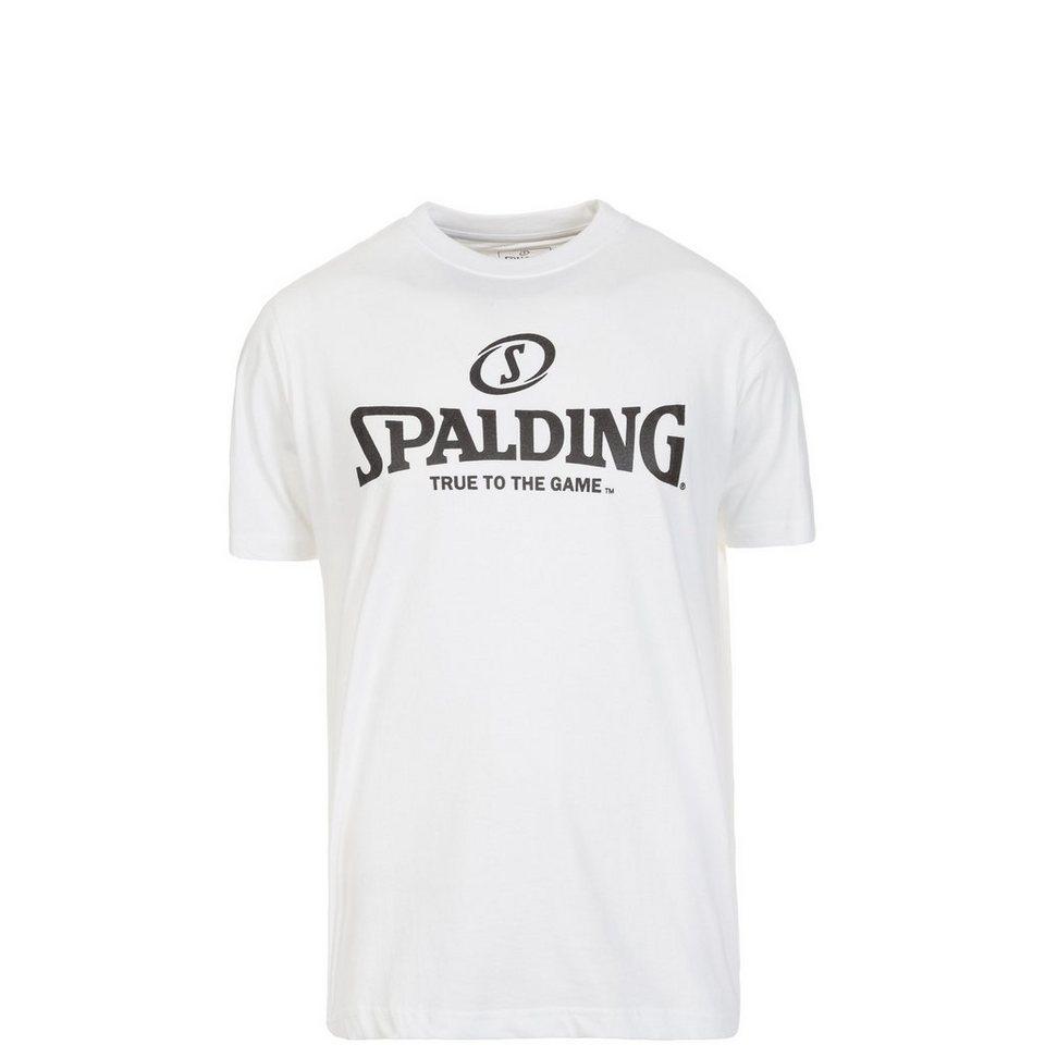 SPALDING Logo T-Shirt Kinder in weiß