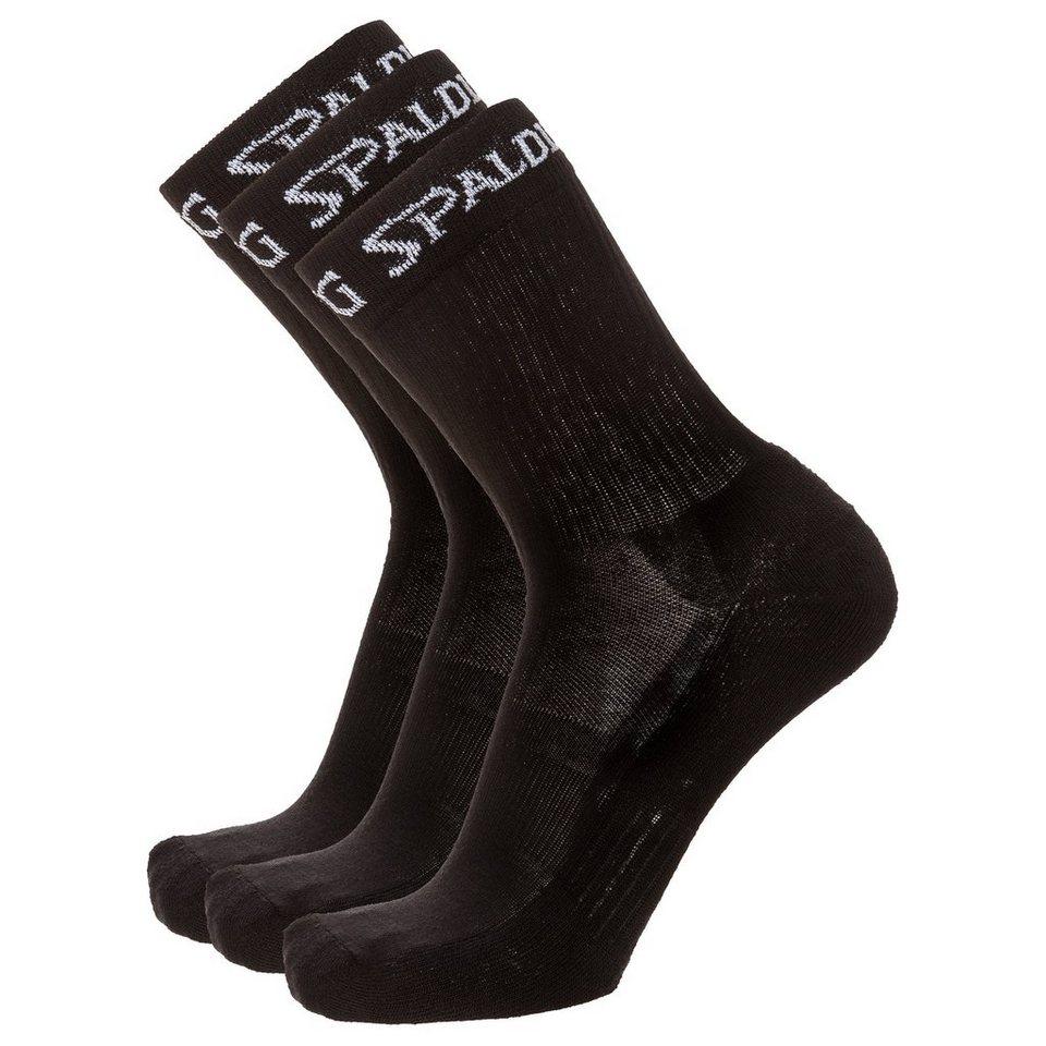 SPALDING Socken Mid Cut Herren in schwarz