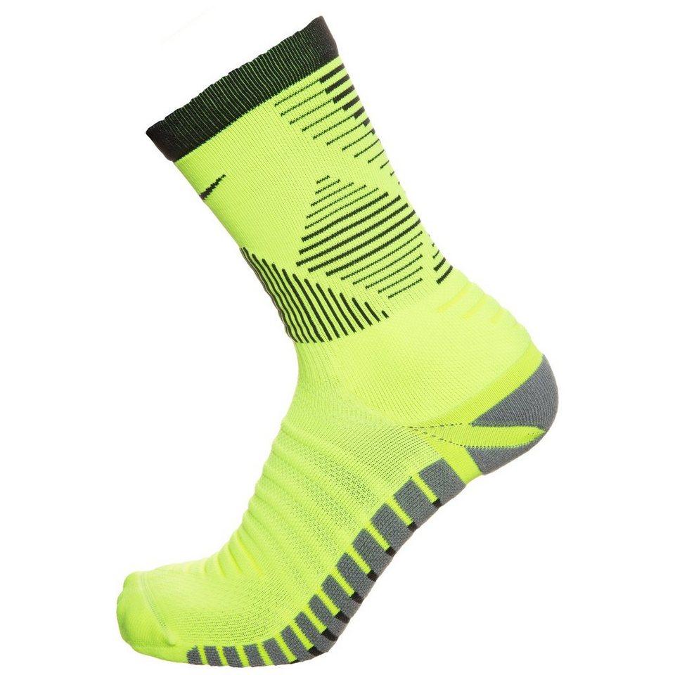 NIKE Set: Strike Mercurial Crew Socken in neongelb / schwarz