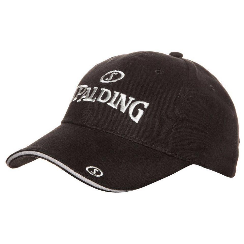SPALDING Base Cap in schwarz/silbergrau