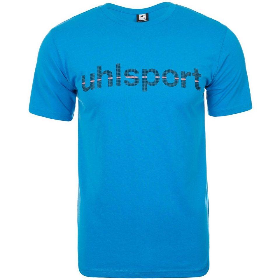 UHLSPORT Essential Promo T-Shirt Herren in cyan