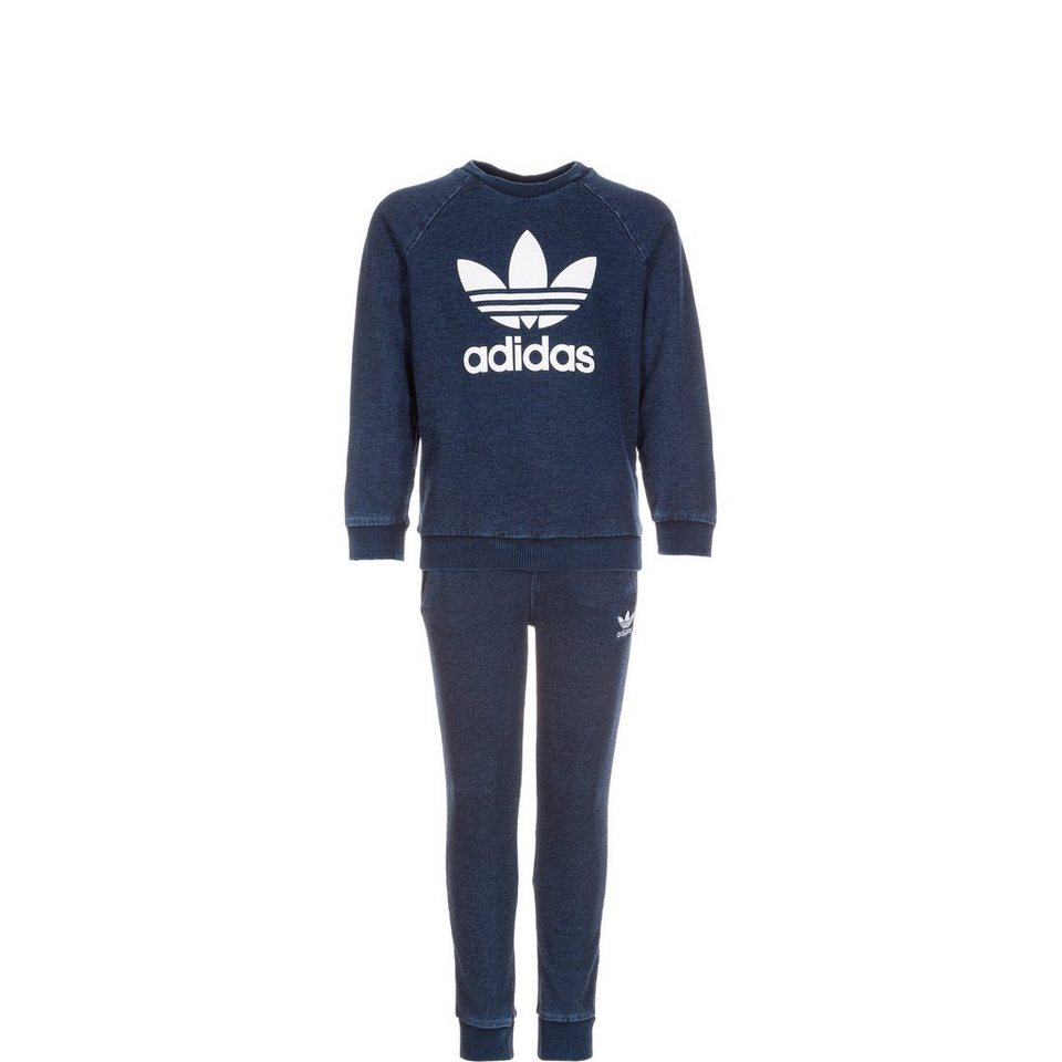 adidas Originals Set: I Denim Crew Set Kleinkinder (Packung, 2 tlg.) in blau / weiß