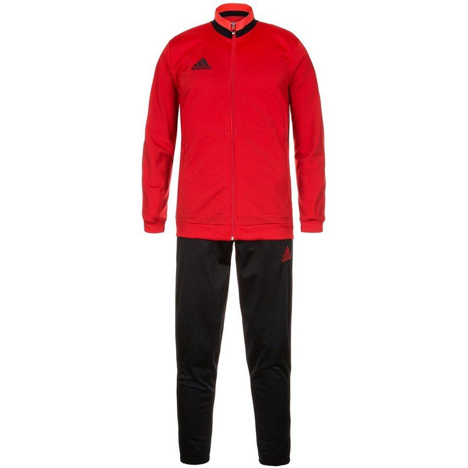 adidas Performance Set: Condivo 16 Polyesteranzug Herren (Packung, 2 tlg.) in rot / schwarz
