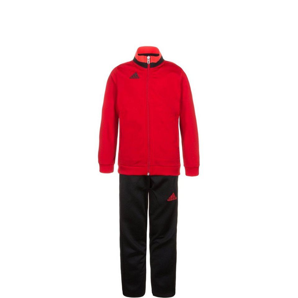 adidas Performance Set: Condivo 16 Polyesteranzug Kinder (Packung, 2 tlg.) in rot / schwarz