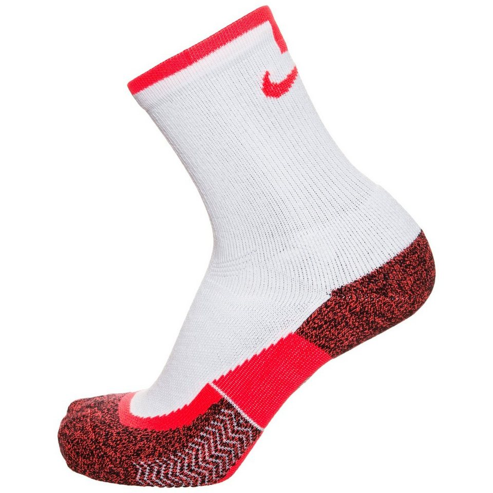NIKE Set: Elite Crew Tennissocken in weiß / rot