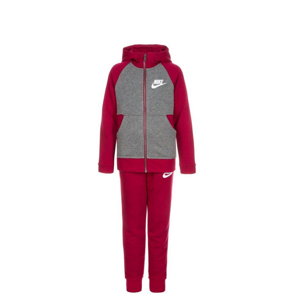 NIKE Set: FT Trainingsanzug Kinder (Packung, 2 tlg.) in bordeaux / grau