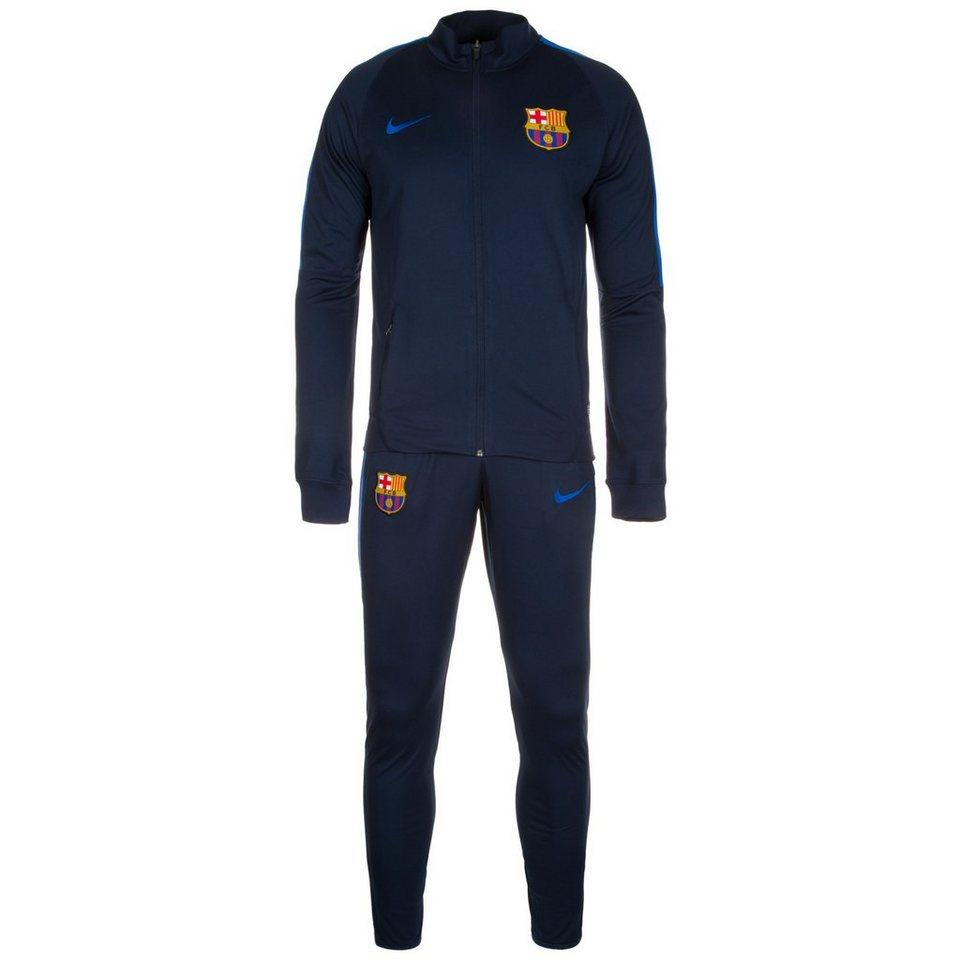 NIKE Set: FC Barcelona Dry Squad Trainingsanzug Herren (Packung, 2 tlg.) in dunkelblau / blau